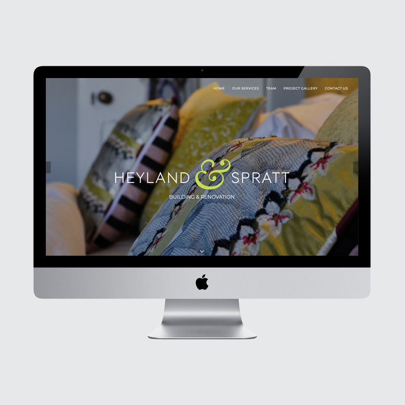 Heyland & Spratt website design