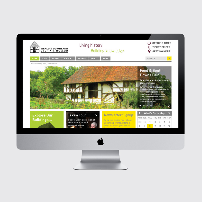 Weald & Downland website design