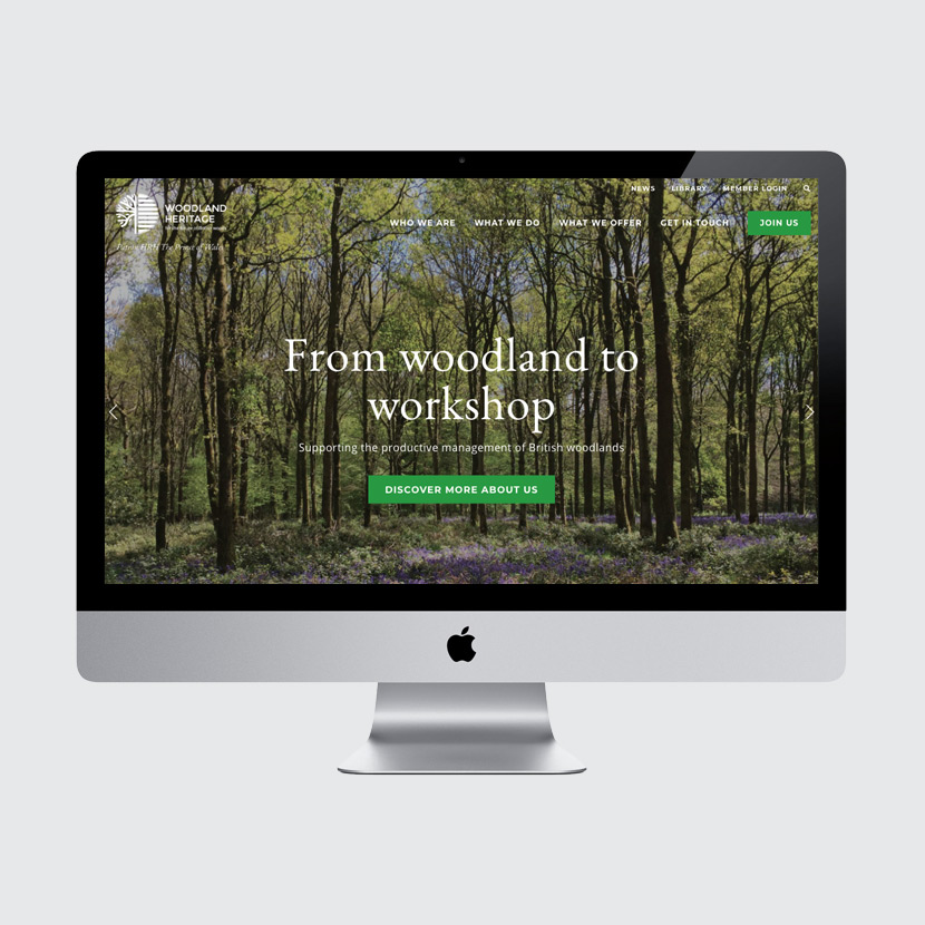 Woodland Heritage website design